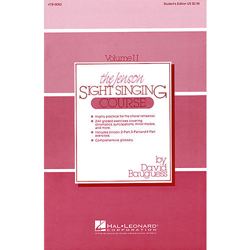 Hal Leonard The Jenson Sight Singing Course (Vol. II) Singer composed by David Bauguess