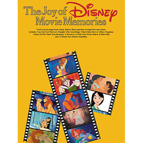 Hal Leonard The Joy Of Disney Movie Memories Arranged for Solo Piano