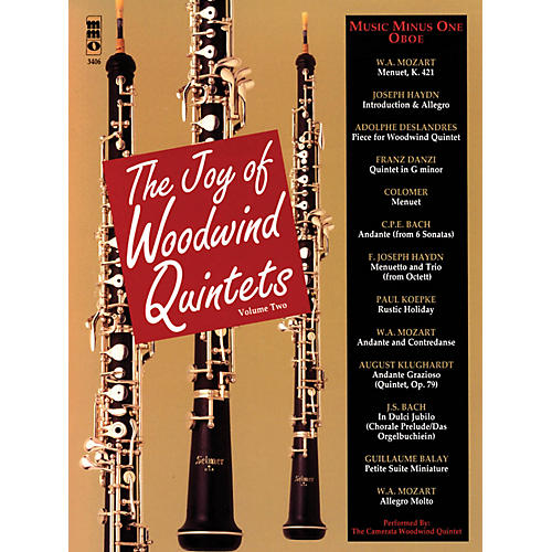 Music Minus One The Joy of Woodwind Quintets - Volume Two Music Minus One Series BK/CD by Various-thumbnail