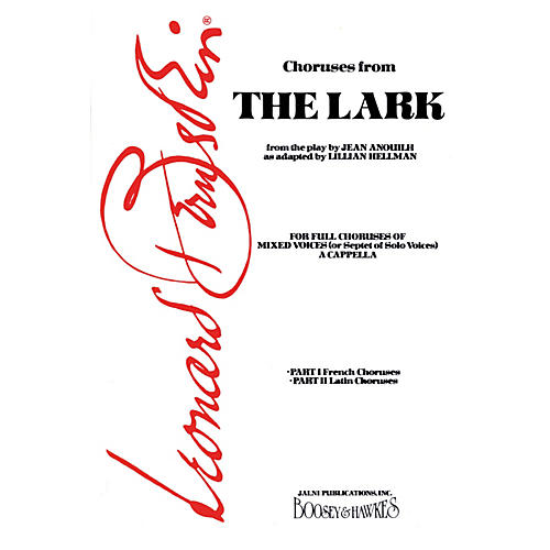 Boosey and Hawkes The Lark (French and Latin Choruses) SSAATBB A Cappella composed by Leonard Bernstein-thumbnail
