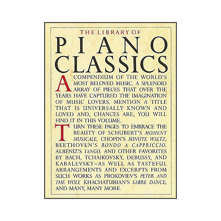 Music SalesThe Library Of Piano Classics