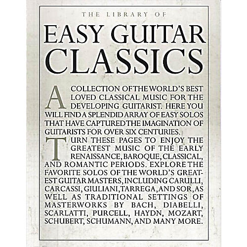 Music Sales The Library of Easy Guitar Classics Music Sales America Series Softcover-thumbnail