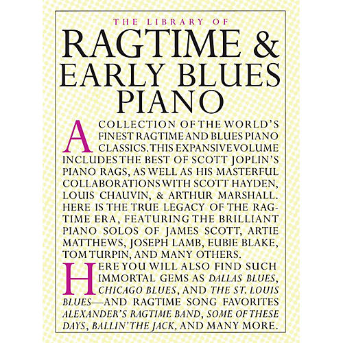 Music Sales The Library of Ragtime and Early Blues Piano Music Sales America Series Softcover-thumbnail