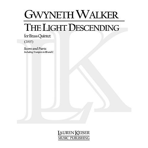 Lauren Keiser Music Publishing The Light Descending (for Brass Quintet) LKM Music Series by Gwyneth Walker-thumbnail