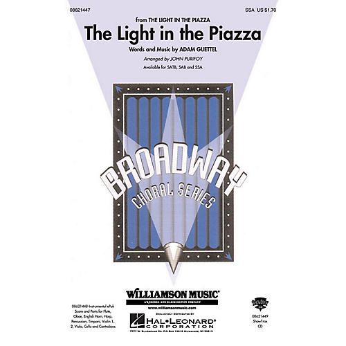 Hal Leonard The Light in the Piazza (from The Light in The Piazza) SSA arranged by John Purifoy-thumbnail