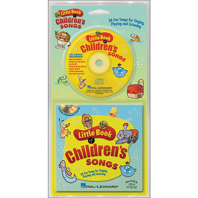 Hal Leonard The Little Book Of Children's Songs Book/CD arranged for piano, vocal, and guitar (P/V/G)