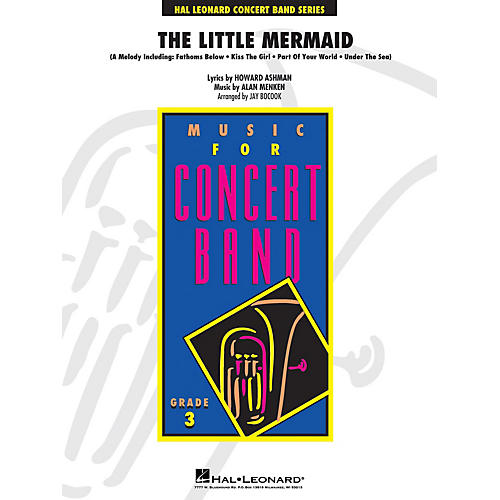 Hal Leonard The Little Mermaid - Young Concert Band Series Level 3 arranged by Jay Bocook-thumbnail