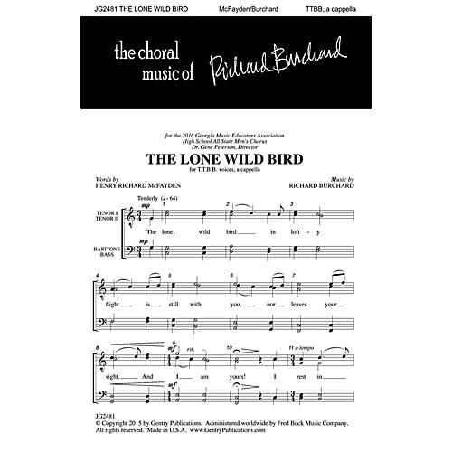 Gentry Publications The Lone Wild Bird TTBB A Cappella composed by Richard Burchard-thumbnail