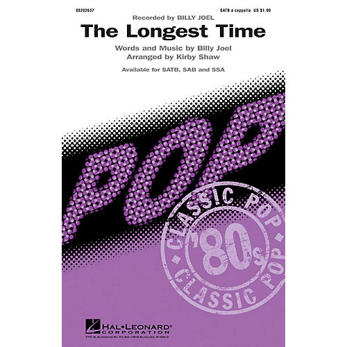 Hal Leonard The Longest Time SAB A Cappella by Billy Joel Arranged by Kirby Shaw-thumbnail