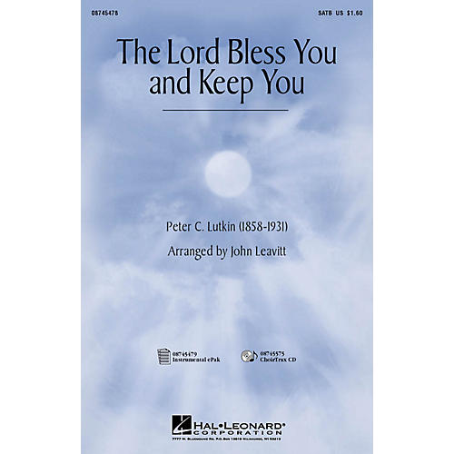 Hal Leonard The Lord Bless You and Keep You IPAKCO Arranged by John Leavitt-thumbnail