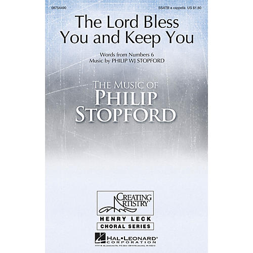 Hal Leonard The Lord Bless You and Keep You SSATB A Cappella composed by Philip Stopford