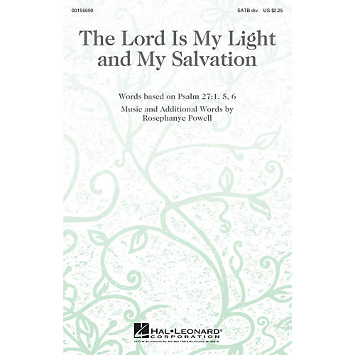Hal Leonard The Lord Is My Light and My Salvation SATB Divisi composed by Rosephanye Powell-thumbnail