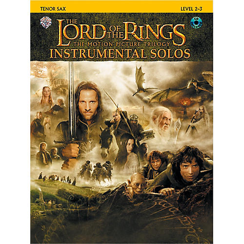 Alfred The Lord of the Rings Instrumental Solos Tenor Sax Book & CD