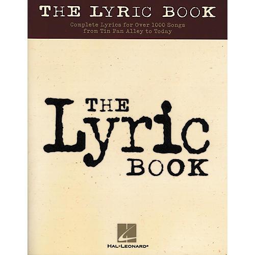 Hal Leonard The Lyric Book