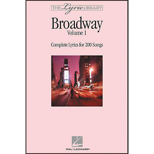 Hal Leonard The Lyric Library: Broadway Volume 1 Book-thumbnail