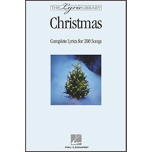 Hal Leonard The Lyric Library: Christmas Book