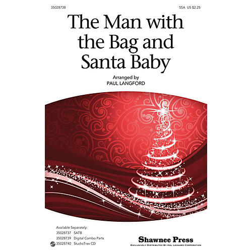Shawnee Press The Man With The Bag And Santa Baby SSA arranged by Paul Langford-thumbnail