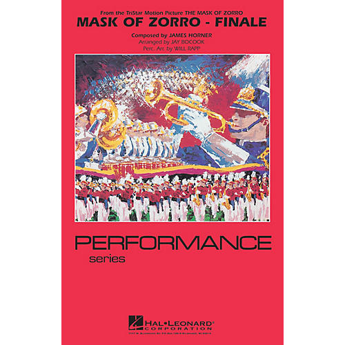 Hal Leonard The Mask of Zorro - Finale Marching Band Level 4 Arranged by Jay Bocook-thumbnail