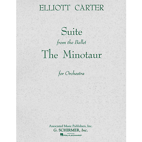 Associated The Minotaur (Ballet Suite) (Full Score) Study Score Series Composed by Elliott Carter-thumbnail