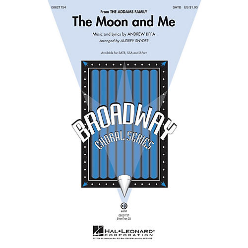 Hal Leonard The Moon and Me (from The Addams Family) SATB arranged by Audrey Snyder-thumbnail