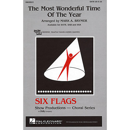 Hal Leonard The Most Wonderful Time of the Year SSA Arranged by Mark Brymer
