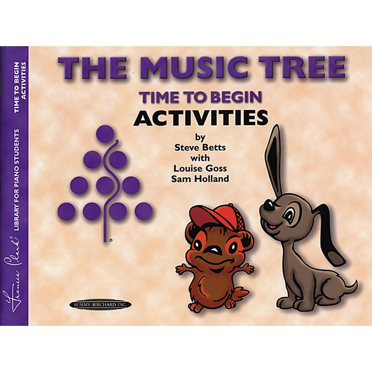 Alfred The Music Tree Activities Book Time to Begin