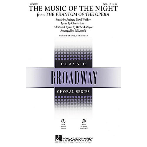 Hal Leonard The Music of the Night (from The Phantom of the Opera) SATB arranged by Ed Lojeski-thumbnail