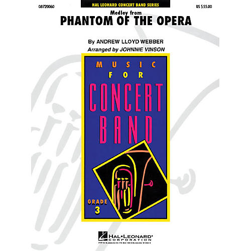 Hal Leonard The Phantom of the Opera (Medley) - Young Concert Band Series Level 3 arranged by Johnnie Vinson-thumbnail