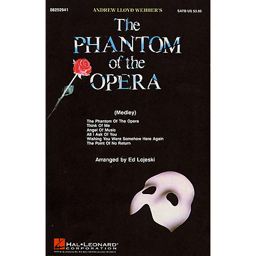 Hal Leonard The Phantom of the Opera (Medley) SAB Arranged by Ed Lojeski-thumbnail