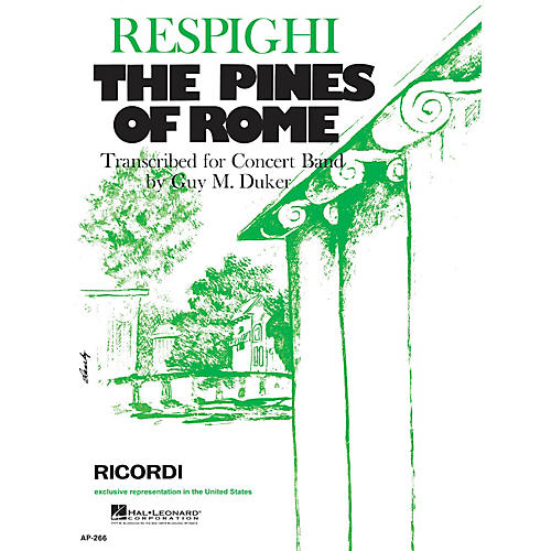 Ricordi The Pines of Rome (Full Score & Parts) Concert Band Composed by Ottorino Respighi-thumbnail