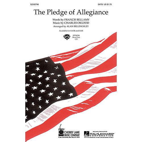 Cherry Lane The Pledge of Allegiance SATB arranged by Alan Billingsley