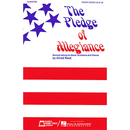 Edward B. Marks Music Company The Pledge of Allegiance SATB composed by Francis Bellamy-thumbnail