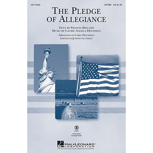 Edward B. Marks Music Company The Pledge of Allegiance SATBB arranged by Larry Hochman-thumbnail