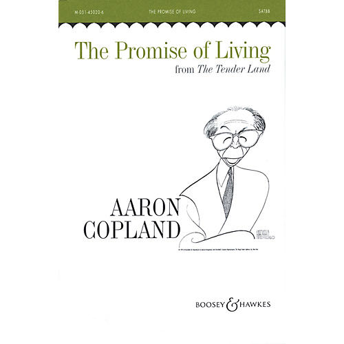 Boosey and Hawkes The Promise of Living (SATBB and Piano, 4 Hands) SATBB composed by Aaron Copland-thumbnail