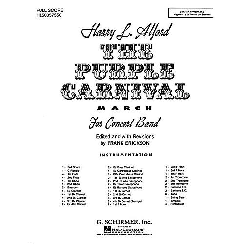 G. Schirmer The Purple Carnival March (Score and Parts) Concert Band Level 4-5 Composed by Harold Alford-thumbnail