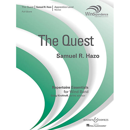Boosey and Hawkes The Quest (Full Score) Concert Band Composed by Samuel R. Hazo-thumbnail
