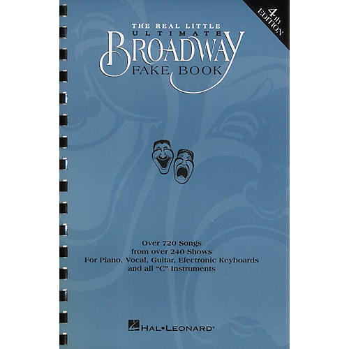 Hal Leonard The Real Little Ultimate Broadway Fake Book 5th Edition-thumbnail