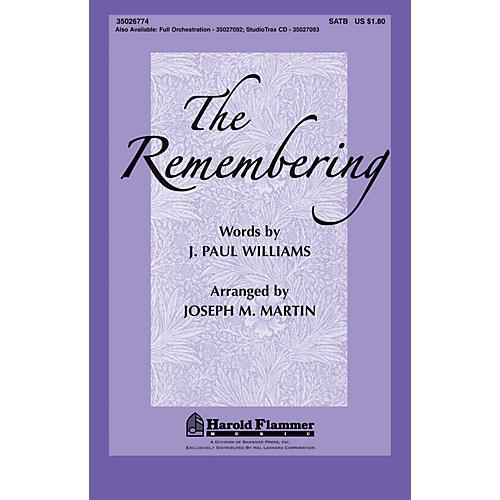 Shawnee Press The Remembering Studiotrax CD Arranged by Joseph Martin-thumbnail