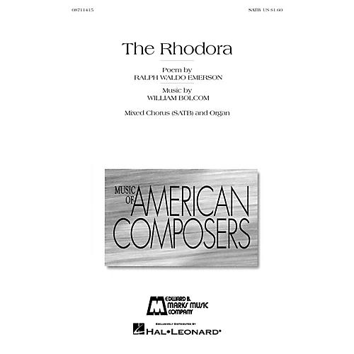 Edward B. Marks Music Company The Rhodora (On Being Asked, Whence Is the Flower?) SATB composed by William Bolcom-thumbnail