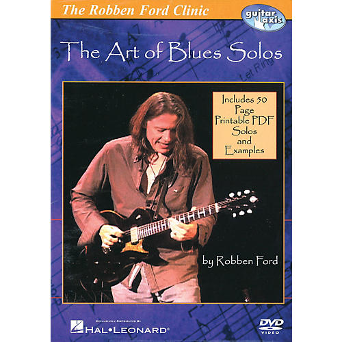 Hal Leonard The Robben Ford Clinic - The Art of Blues Solos (DVD)-thumbnail