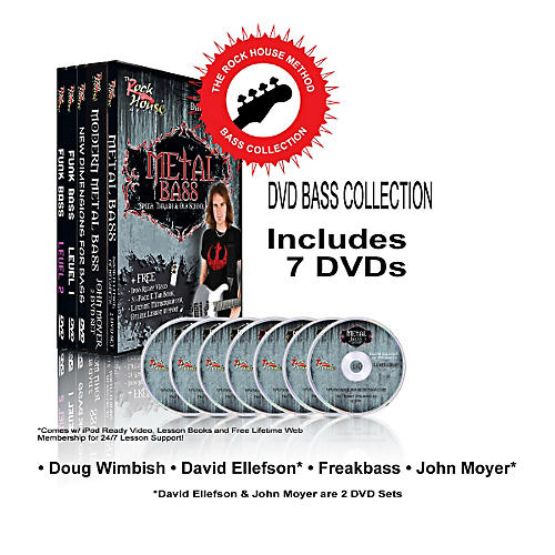 Hal Leonard The Rock House Method - Bass DVD Collection-thumbnail