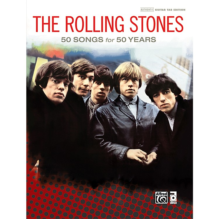 Alfred The Rolling Stones - 50 Songs for 50 Years Hardcover Guitar TAB Book