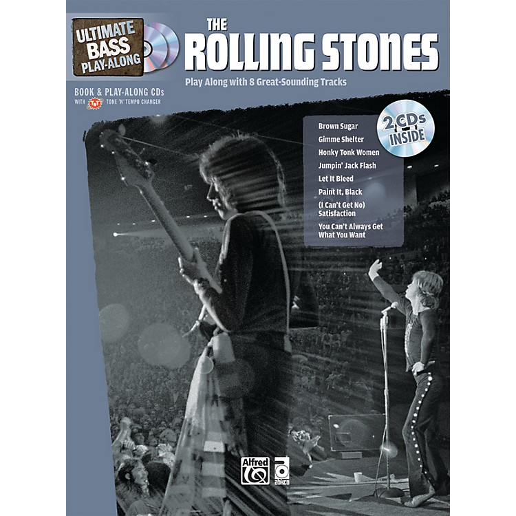 Alfred The Rolling Stones Ultimate Bass Play-Along (Book/2 CDs)