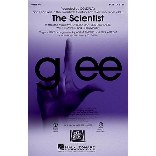 Hal Leonard The Scientist SATB by Glee Cast arranged by Adam Anders-thumbnail