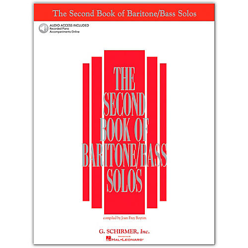 G. Schirmer The Second Book/Online Audio Of Baritone / Bass Solos Book/Online Audio