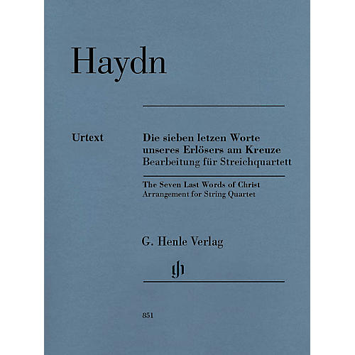 G. Henle Verlag The Seven Last Words of Christ Henle Music Folios Series Composed by Joseph Haydn-thumbnail