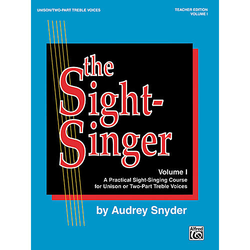 Alfred The Sight-Singer Volume I for Unison/Two-Part Treble Voices Book & Key Cards-thumbnail