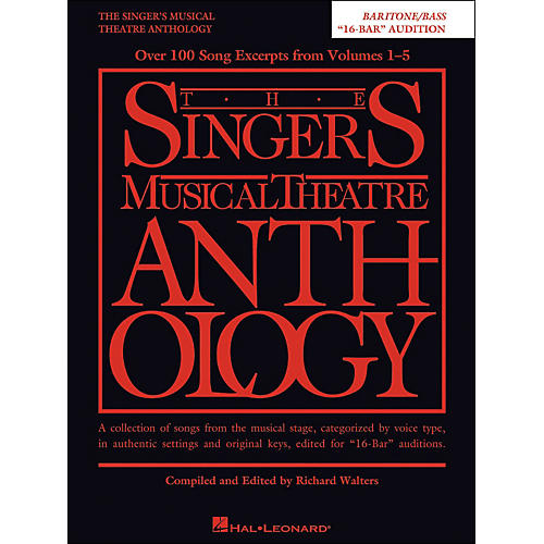 Hal Leonard The Singer's Musical Theatre Anthology Baritone/Bass 16 Bar Audition