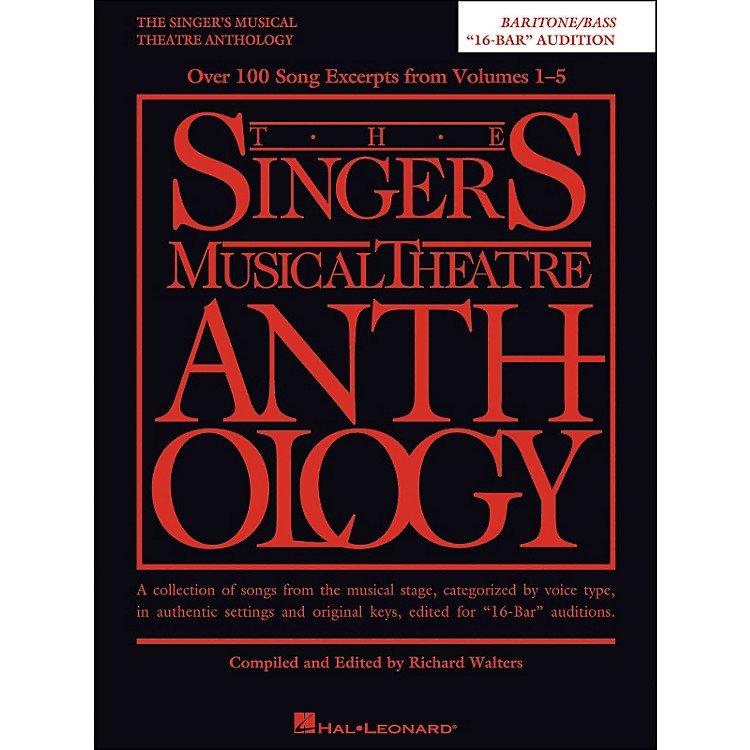 Hal LeonardThe Singer's Musical Theatre Anthology Baritone/Bass 16 Bar Audition