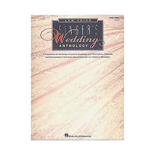 Hal Leonard The Singer's Wedding Anthology-thumbnail